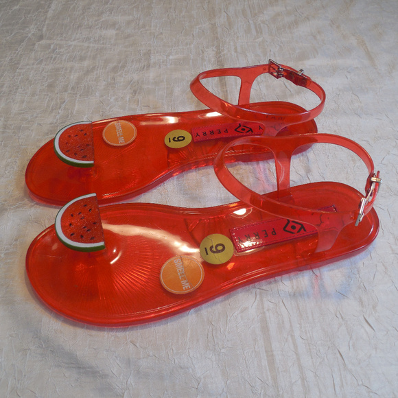 7a948aa36082 Katy Perry Watermelon Sandals Flip Flop Geli Jelly
